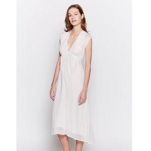 NWT Joie Shaeryl White Striped Midi Dress